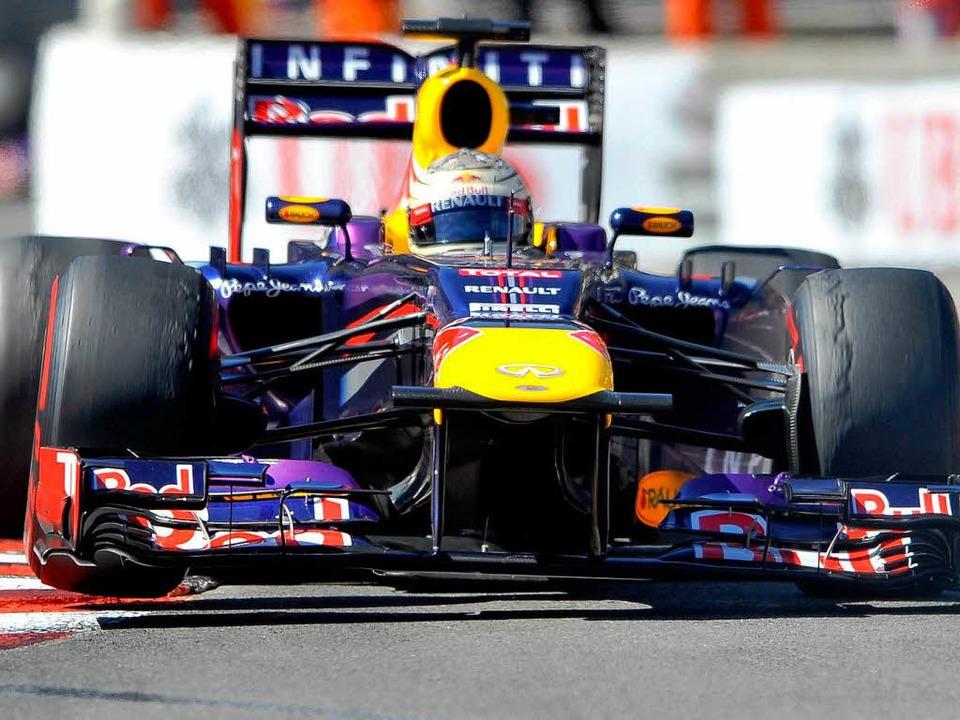 Vettel beim großen Preis von Monaco am...ttel wurde zweiter hinter Nico Rosberg  | Foto: dpa