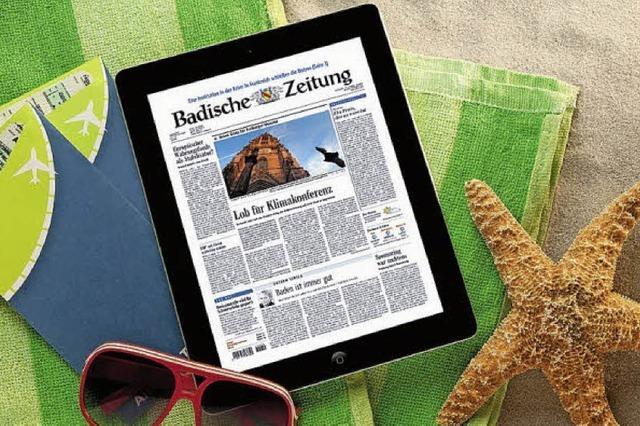 Abo-Urlaubsservice: Die BZ überall lesen!