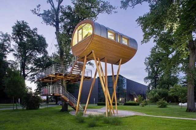 Holzhaus mit Aussicht