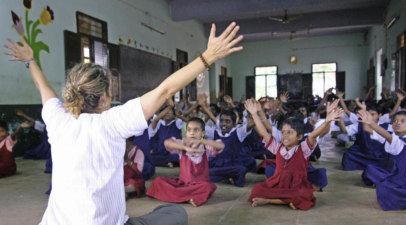 Sozialarbeit in Indien, viele junge de...rbeiten freiwillig in der Dritten Welt  | Foto: Projects Abroad