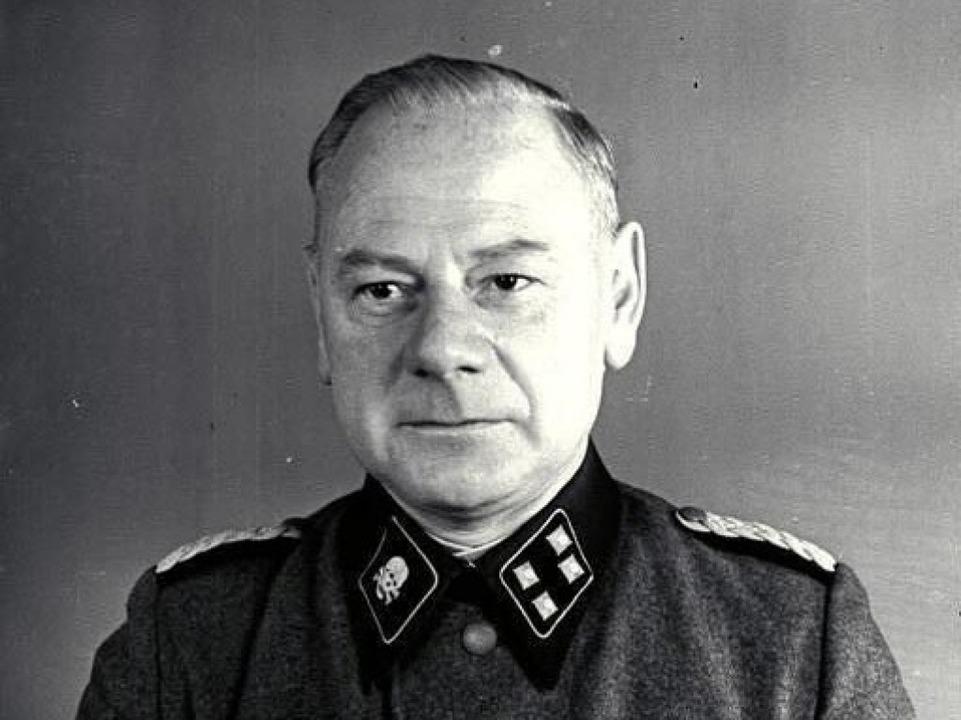 Eduard Krebsbach in der Uniform eines SS-Sturmbannführers im Jahr 1942  | Foto: o.Ang.