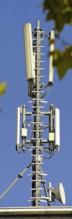 Mobilfunkanlagen sind den Grünen ein Dorn im Auge.   | Foto: SCHNEIDER