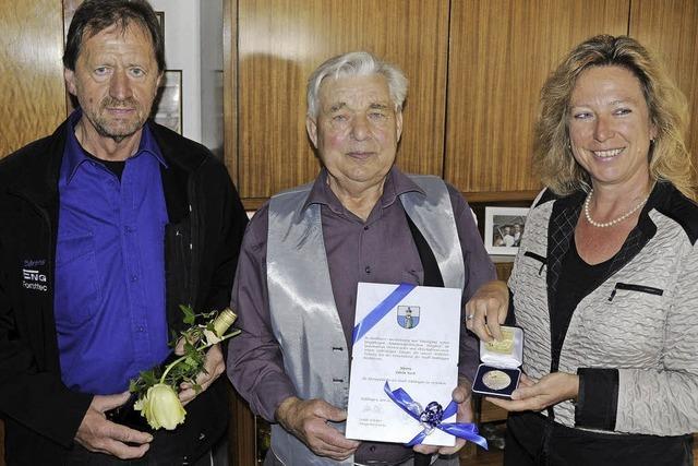 Ehrenplakette für Edwin Kech