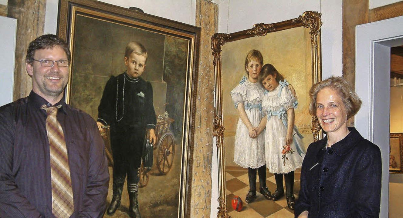 Erinnerung an den großen Maler aus Ste...n Ernst Hänßler im Vogtshaus Steinen.   | Foto: Roswitha Frey