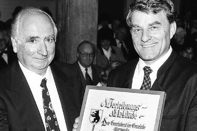 Ehrenbürger Eugen Sumser ist im Alter von 82 Jahren gestorben