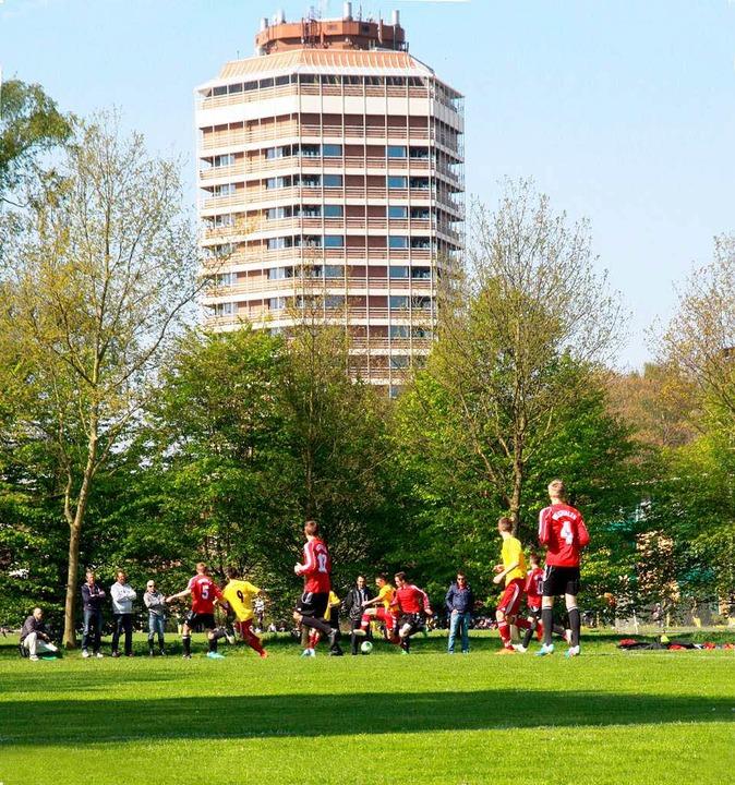 Unter den Augen der Geier: Die U16 Süd...falen in Duisburgs  Sportschule Wedau.  | Foto: Schuler Max