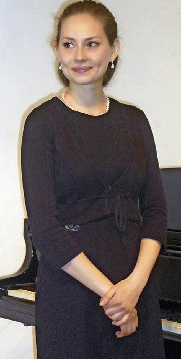 Mit virtuosen Darbietungen bezauberte die Pianistin Maria Lelchuk im Stubenhaus.  | Foto: Bianca Flier