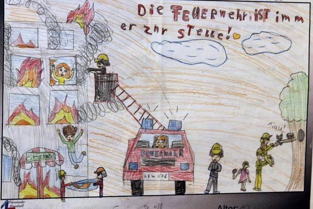 Feuerwehr im Kinderbild