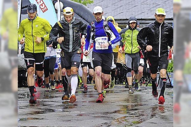 58 Kilometer talauf und -ab bei Regen