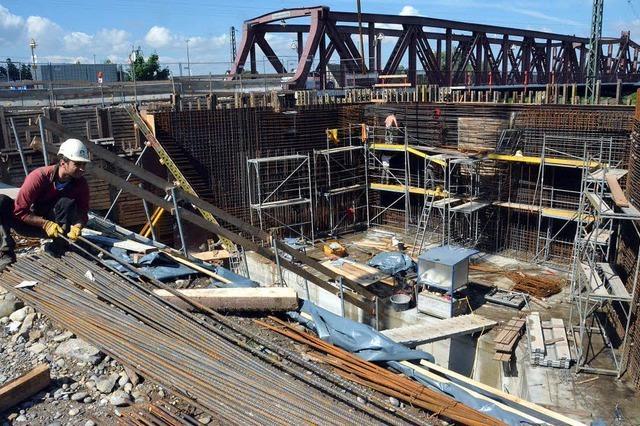 Ein Werk aus Baustahl und Beton