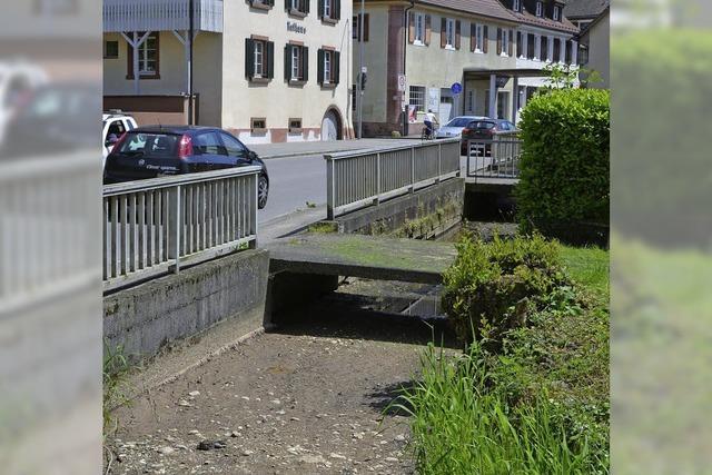 Dorfbach fällt trocken