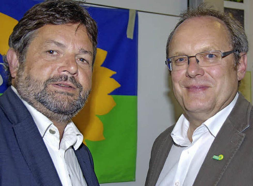 Bundestagswahl: Reinhold Pix (links) und Peter Schanz zu Gast in Gundelfingen  | Foto: Andrea Steinhart
