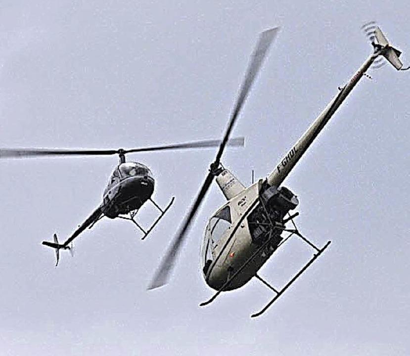 Hatten die Zuschauer mit ihrem Himmels... die Hubschrauberformation Tango Bleu.  | Foto: privat