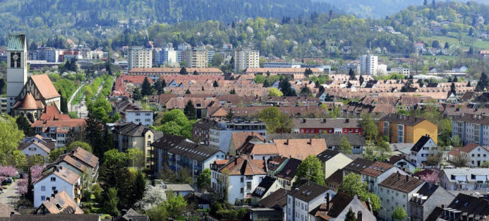 Das heutige Vergleichsfoto (aufgenomme... an der Carl-Kistner-Straße zu sehen.   | Foto: Ingo Schneider