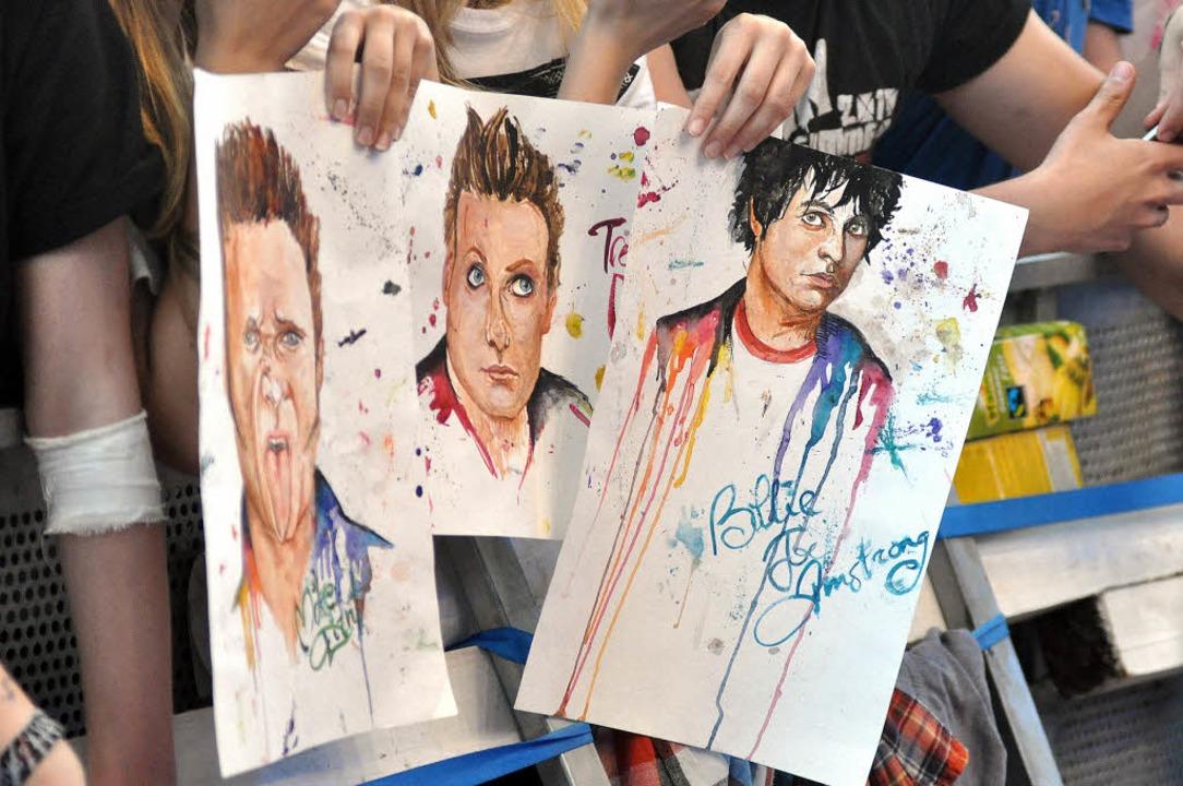 Fanpost am Rande der Festivals: Billie...seine Boys von Green Day aquarelliert   | Foto: Rother