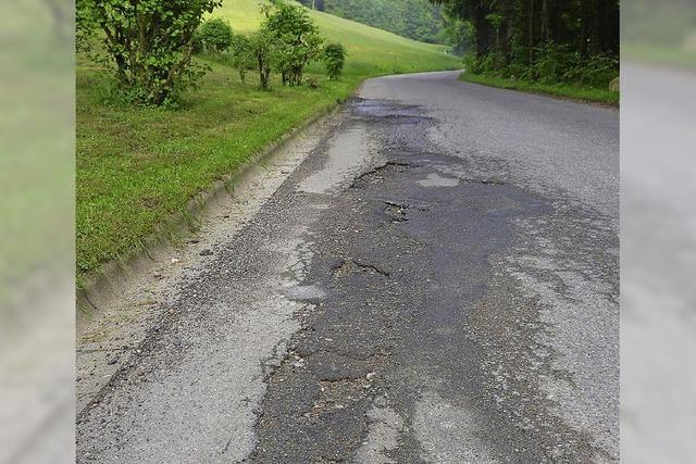 Eine Straße ohne Löcher