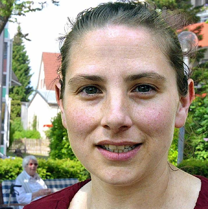 <ppp>die Hygienefachkraft Stefanie Fleischer.</ppp>  | Foto: G. Hennicke