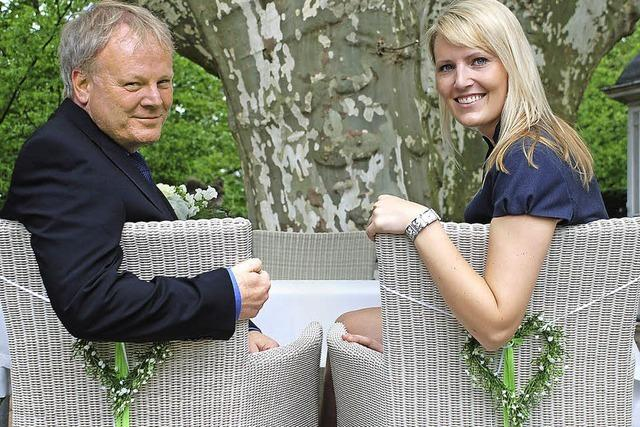 Der Vinzentiusgarten wird auf Wunsch zum grünen Trauzimmer