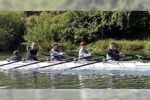 Training auf dem Rhein