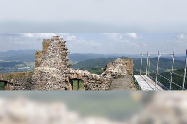 Burg Hohengeroldseck: Zweiter Teil der Sanierung beginnt - Turm gesperrt
