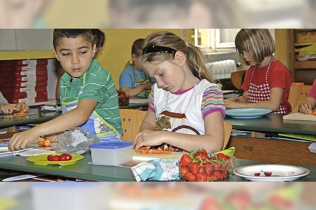 Süße Früchte in der Schule