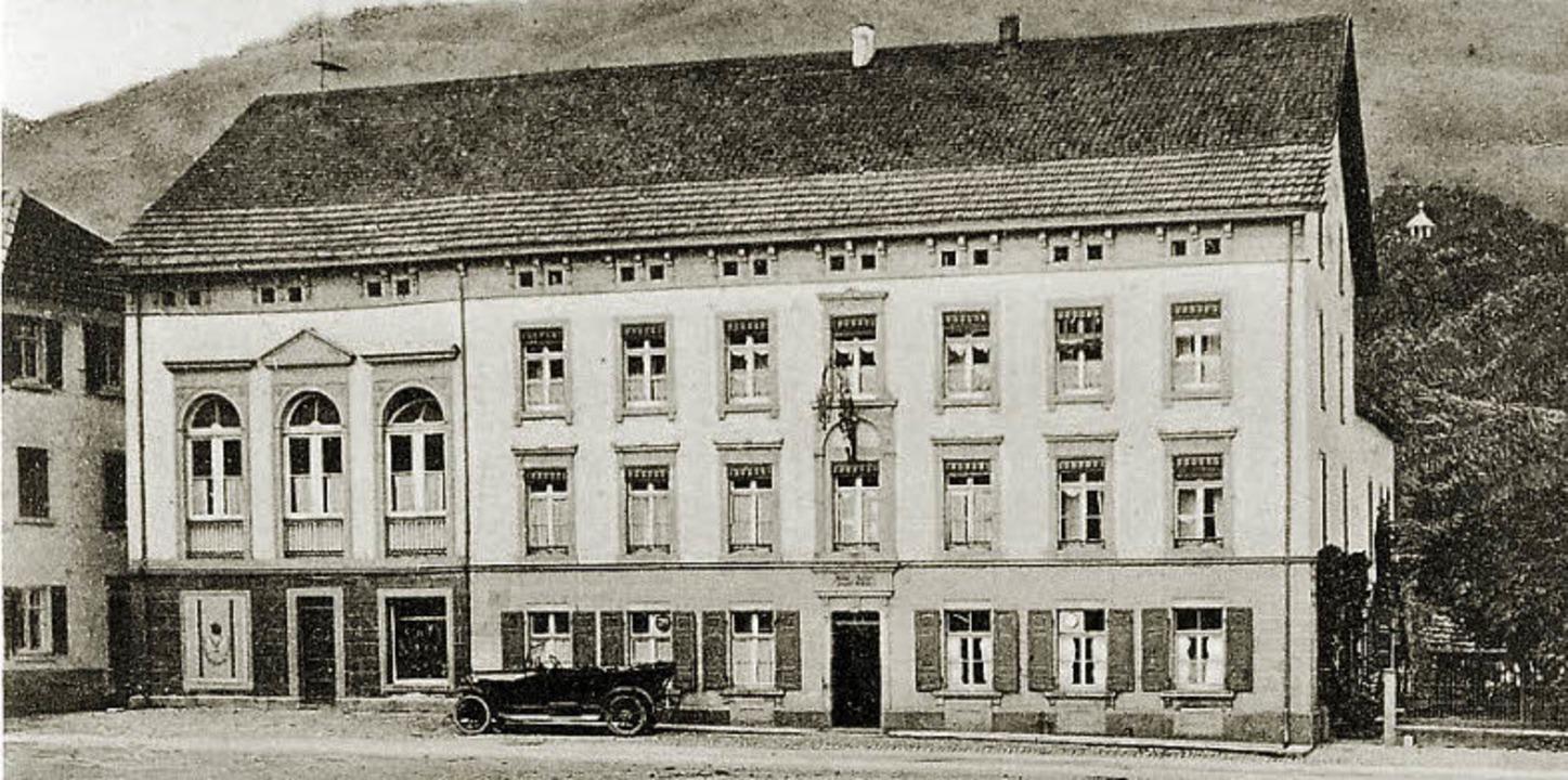 Hotel Pension um Adler, Wehr, Serie zur Wehratalbahn  | Foto: bz