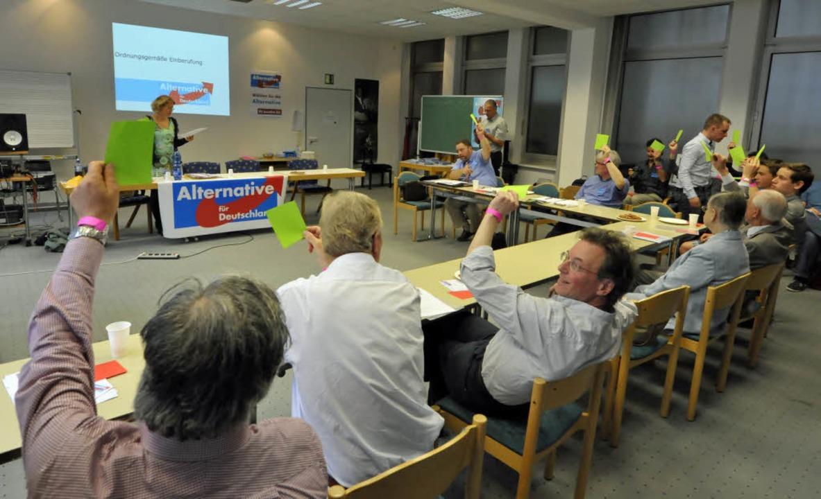 Freiburg stellt nach Lörrach und der O...tten Kreisverband der AfD in Südbaden.  | Foto: Bamberger Michael