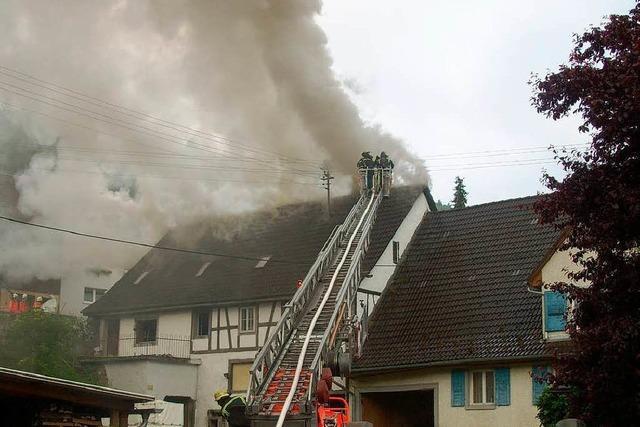 Brand in altem Bauernhaus – 50.000 Euro Schaden