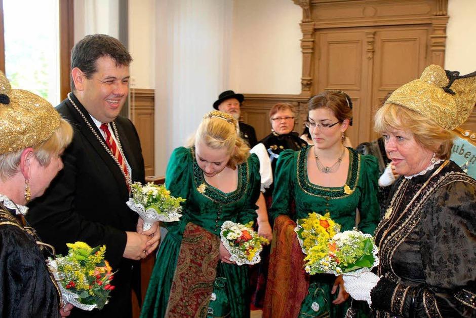 Empfang für die Goldhaubengruppe Bad Füssing (Foto: Hermann Jacob)