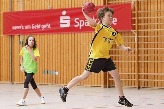 300 Grundschüler wuseln beim Handball