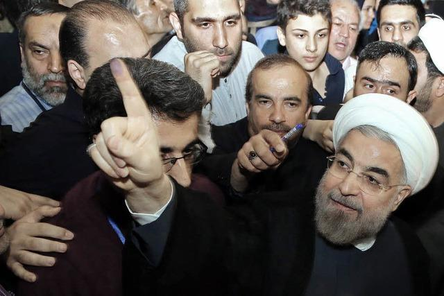 Iraner jubeln über Wahlsieg Ruhanis