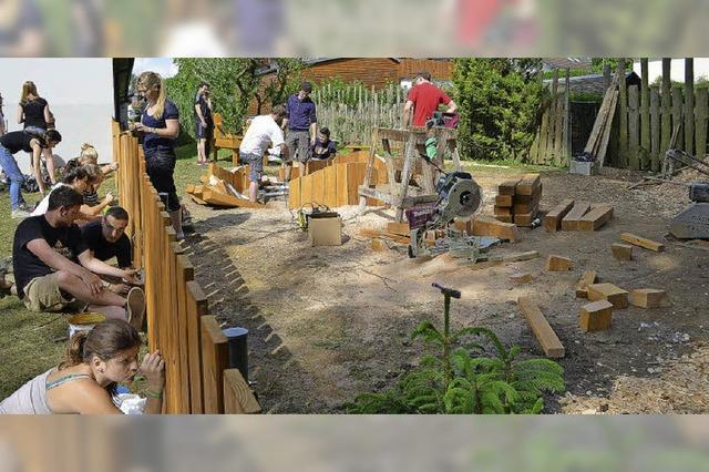 72-STUNDEN-AKTION: Neuer Spielplatz im Kindergarten