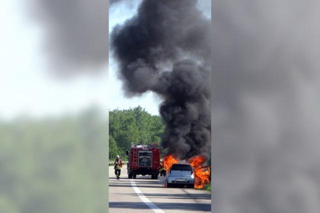 Fiat brannte komplett aus