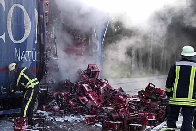 Lkw-Brand sorgt für Umweg