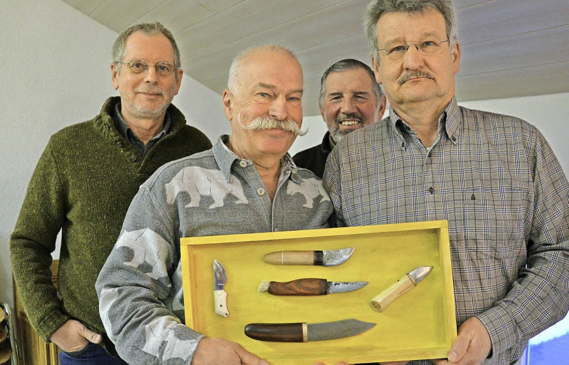 Ignaz Steinegger (hinten rechts) mit d...uster, Axel Becker, Winfried Schramm.   | Foto: Martina Proprenter