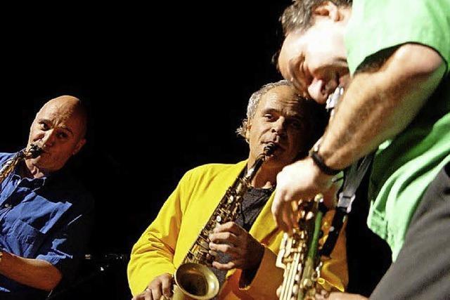 Das Trio Sax 'n Hop in der St. Märgener Goldenen Krone