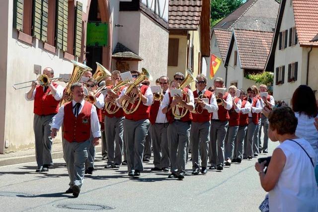 Kiechlinsbergen im Zeichen der Blasmusik