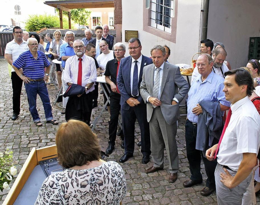 Ausstellungseröffnung 150 Jahre Sozial...nhold Gall, Innenministers des Landes.  | Foto: Ilona Hüge