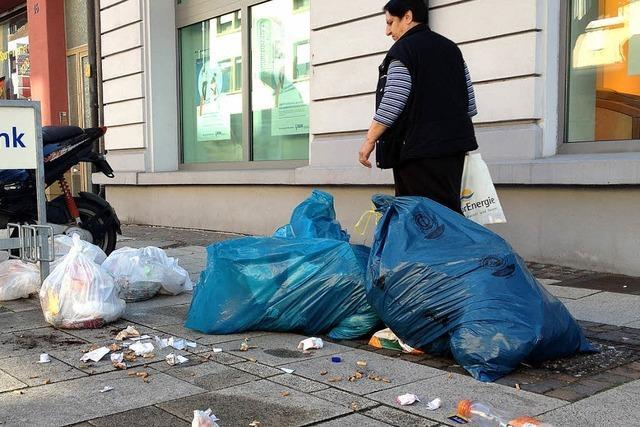 Müll in der Stadt bleibt ein Ärgernis