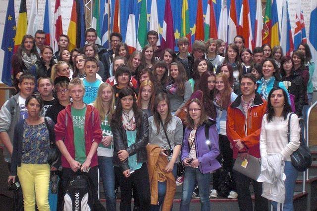 Polnische Schüler zu Gast in Breisach