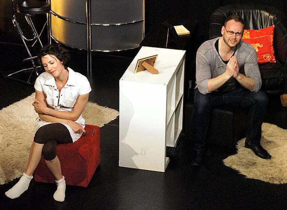 Internet-Beziehung im Doppelpack gab es am Wochenende in der Kumedi.   | Foto: Hüge