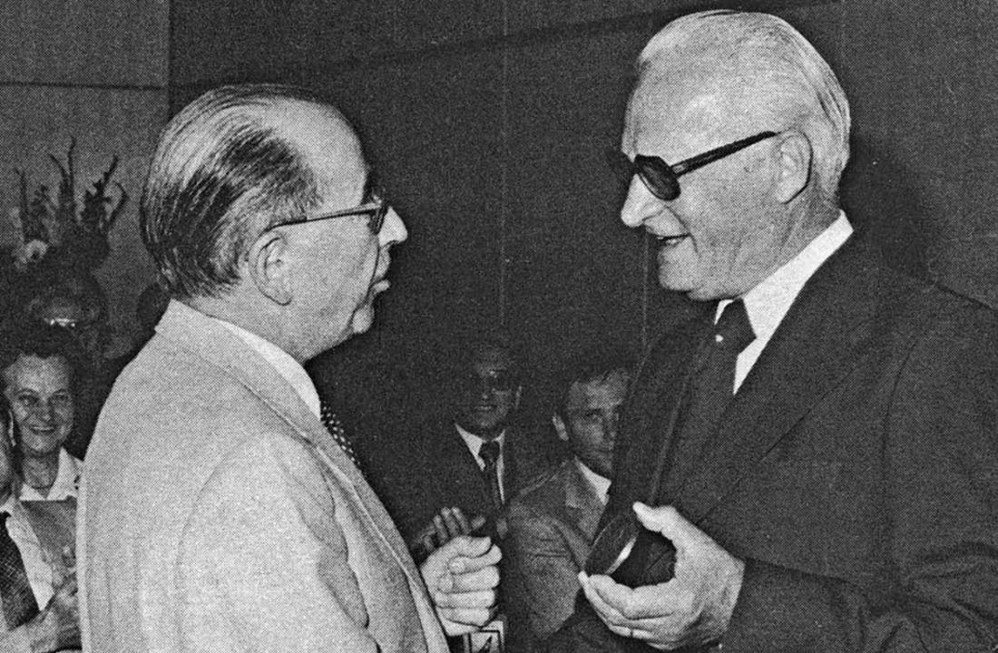 Otto Boll mit seinem Hüninger Freund Charles Muller   | Foto: Stadtarchiv