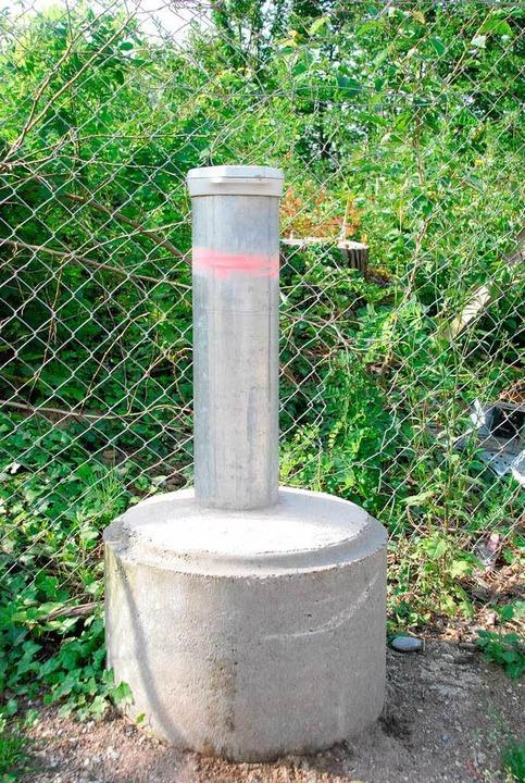Eine von insgesamt 44 Grundwassermessstellen in und um die Kesslergrube   | Foto: Staub