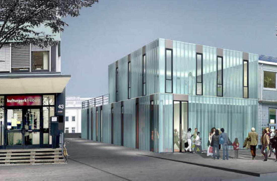 Im Modell: das Glashaus im Kulturpark ...Landes & Partner</BZ-FotoNurRepro>  | Foto: privat