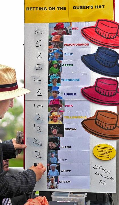 Mobiles Wettbüro: Was für einen Hut tr...een beim  heutigen Royal Ascot-Rennen?  | Foto: AFP
