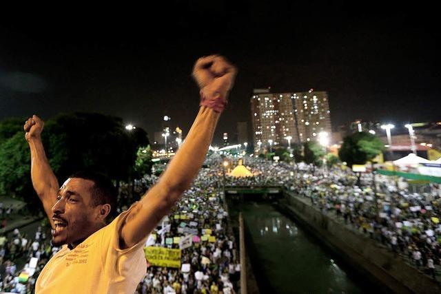 In Brasilien haben sich die Proteste ausgeweitet
