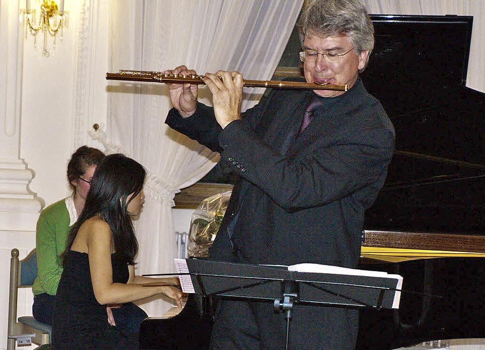 Der Mann mit der goldenen Flöte, Johan... im Festsaal des Klosters St. Blasien.  | Foto: Margrit Matyscak