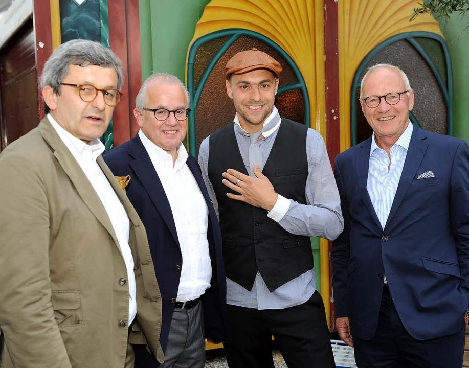 """Beim Konzert des Vereins """"Taube ...ang Schmid, Vorsitzender des Vereins.     Foto: Rita Eggstein"""