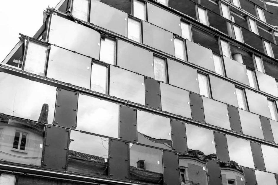 Beton, Glas, Stahl - die Uni-Bibliothek in Freiburg (Foto: Carlotta Huber)