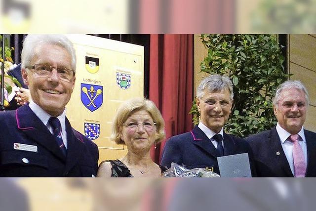 Ehrennadeln für Fechti und Brugger